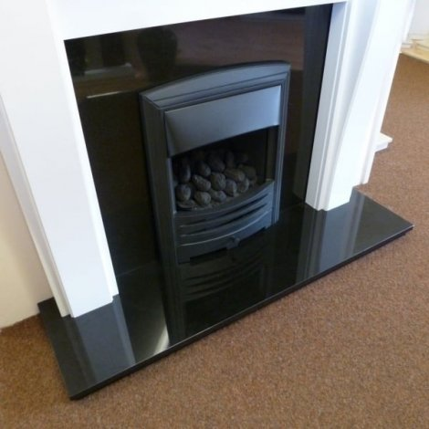 Granite Absolute Black Fireplace Hearth | Express Service