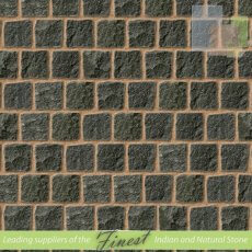 Black Indian  Granite Cobbles - 10cm x 10cm - H/D Edge