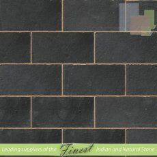 Black Limestone - Hand Dressed Edges - Single Size Paving Slabs