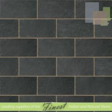 Black Limestone - Sawn Edges - Single Size Paving Slabs