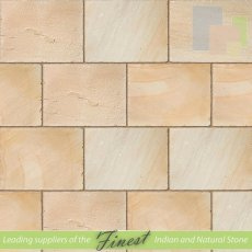 Fossil Mint Sandstone - Hand Dressed Edges - Single Size Paving Slabs