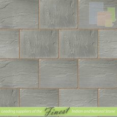 Kandla Grey Sandstone - Hand Dressed Edges - Single Size Paving Slabs