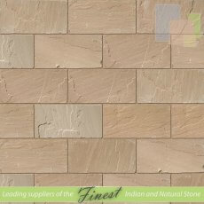 Raj Green Sandstone - Hand Dressed Edges - Single Size Paving Slabs