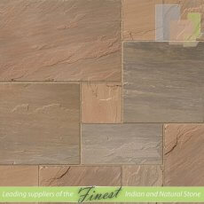 Paving - Autumn Brown Sandstone - H/D Edge - 18mm to 25mm - Patio Pack