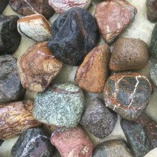 Pebbles - Rain Forest - Large - 50mm - 75mm - 1kg