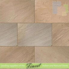 Paving - Raj Green Sandstone - H/D Edge - 22mm Calibrated - 90cm x 60cm
