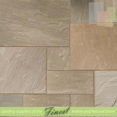 Raj Green - Sandstone - Patio Packs x 22mm x Sawn Edge
