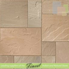 Paving - Raj Green Sandstone - H/D Edge - 22mm Calibrated - Patio Pack