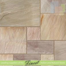 Raveena - Sandstone - Patio Packs x 22mm - H/D Edge