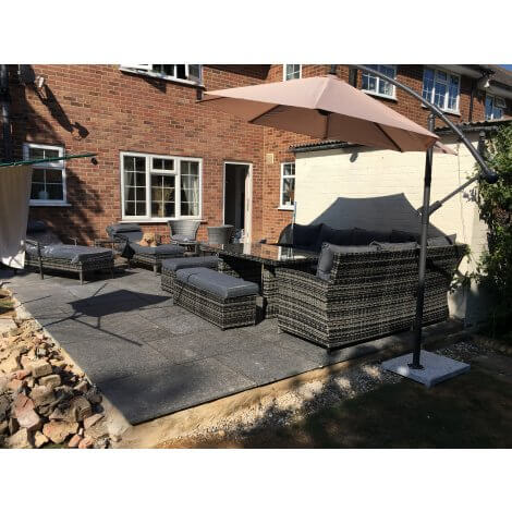 Black - Flamed Granite -  Patio Pack x 22mm - Sawn Edge