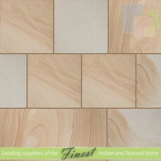 York Swirl Sandstone - Sawn Edge - 22mm Calibrated - Patio Pack