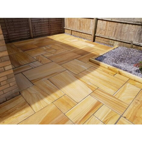 Teak - Smooth Sandstone - Patio Pack x 22mm - Sawn Edge
