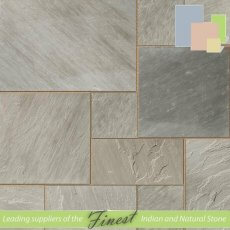 Kandla Grey - Sandstone - Patio Packs x 22mm - Sawn Edge