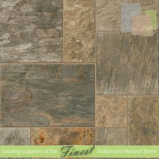 Vijaya Gold Slate -  Sawn Edge - 22mm Calibrated - Patio Pack