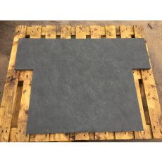 Brazilian Blue Slate Fireplace Hearth | Multiple Sizes | Naturally Smooth Surface | Sawn Edges