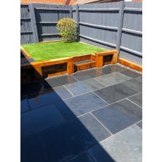 Paving - Brazilian Blue Slate - Sawn Edge - 22mm Calibrated - 90cm x 60cm