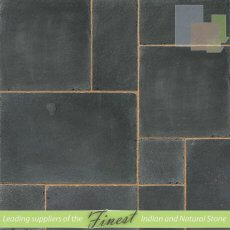 Paving - Black Limestone - Antique/Tumbled - 22mm Calibrated - Patio Pack