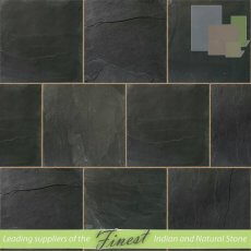 Riven Blue - Slate - 60cm x 60cm x 22mm - Sawn Edge