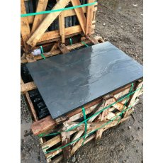 Blue-Black Slate Fireplace Hearth | Multiple Sizes | Sawn Edges