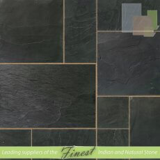 Indian Blue Slate - Sawn Edge - 22mm calibrated Patio Pack
