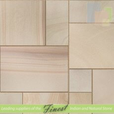 Rippon Buff - Sandblasted Sandstone - Patio Pack x 22mm x Sawn Edge