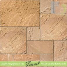 Paving - Latipur Yellow Sandstone - H/D Edge - 22mm Calibrated - Patio Pack