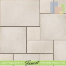 Fossil Mint - Sandblasted Sandstone - Patio Pack x 22mm - Sawn Edge