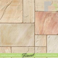 Fossil Mint - Sandstone -  Patio Pack x 22mm - Antique/Tumbled