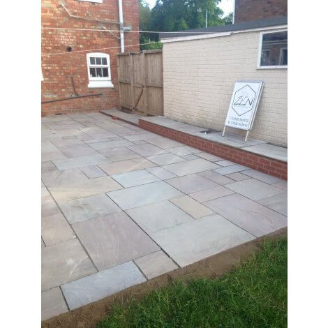 Raj Green Sandstone - Hand Dressed Edges - Mixed Size Patio Pack