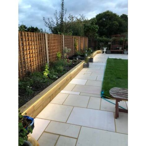 Raj Green - Sandblasted Sandstone - Patio Pack 22mm - Sawn Edge
