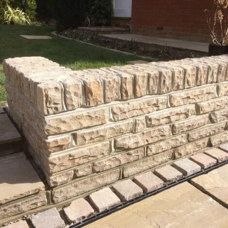 Walling Stone - Raj Green Sandstone - Mixed Size