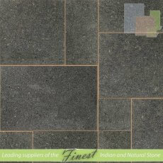 Black Ash Flamed Granite - Sawn Edge - 22mm Calibrated - Patio Pack
