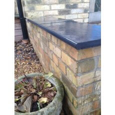 Black Limestone Wall Coping | Bullnosed Edges