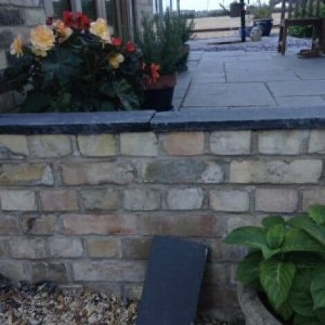 Black Limestone Wall Coping | Hand Dressed Edges