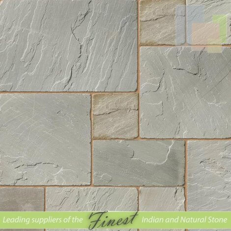Kandla Grey - Sandstone -   Patio Pack x 22mm - Antique/Tumbled