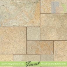 Yellow - Limestone - Patio Pack x 22mm - Sawn Edge