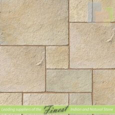 Yellow - Limestone - Patio Pack x 22mm - Antique/Tumbled