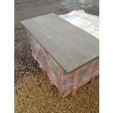 Raj Green Sandstone Fireplace Hearth | Bespoke Sizes | Natural Surface | Bullnosed Front Edge