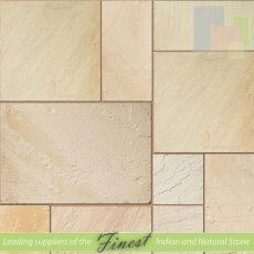 Fossil Mint - Sandstone - Patio Pack 22mm - Sawn Edge