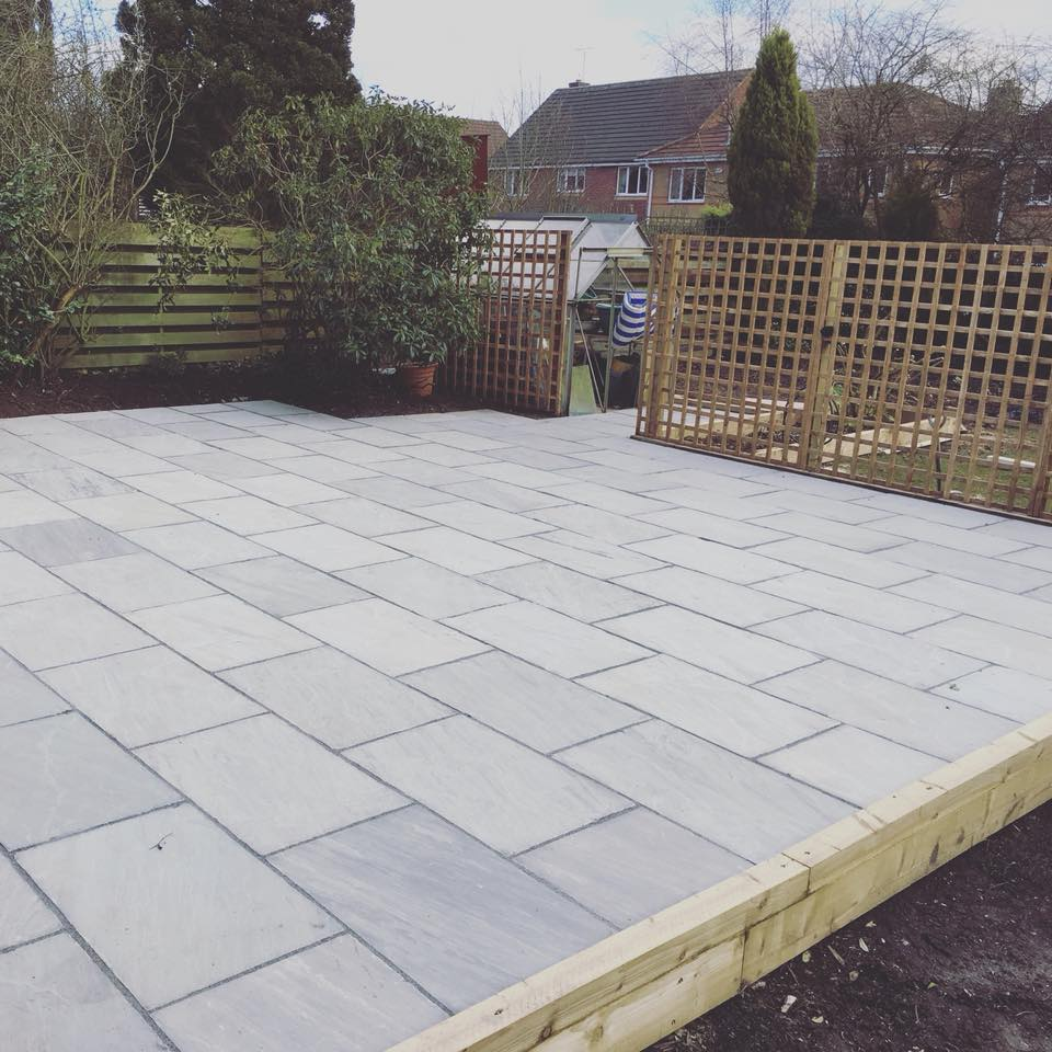 Kandla Grey Sandstone Paving Slabs