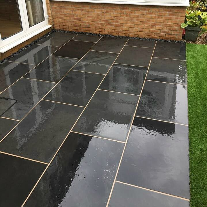 Brazilian slate paving slabs