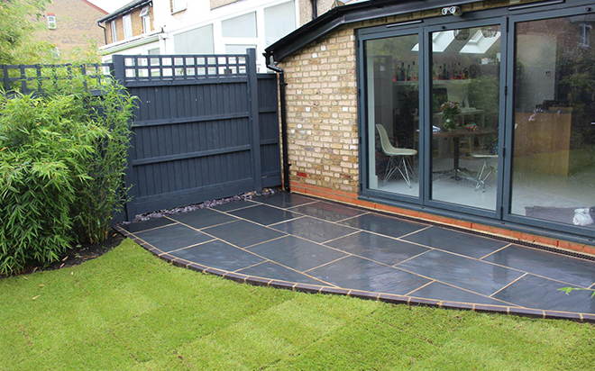 beautiful garden paving