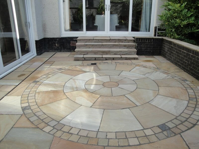 indian sandstone fossil mint paving slabs